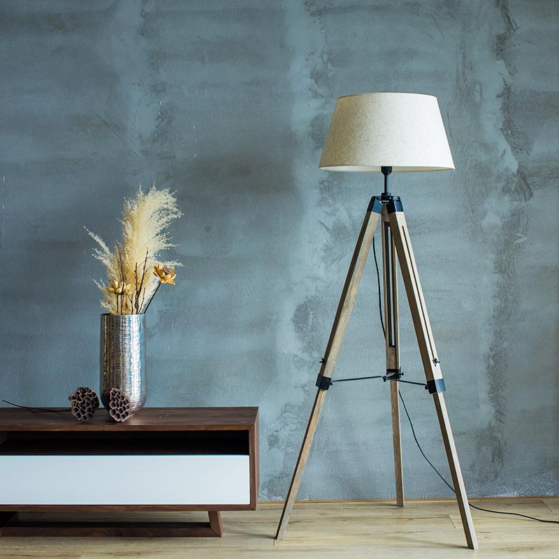 ĐÈN FLOOR LAMP - RUSTIC WOOD - MS-03