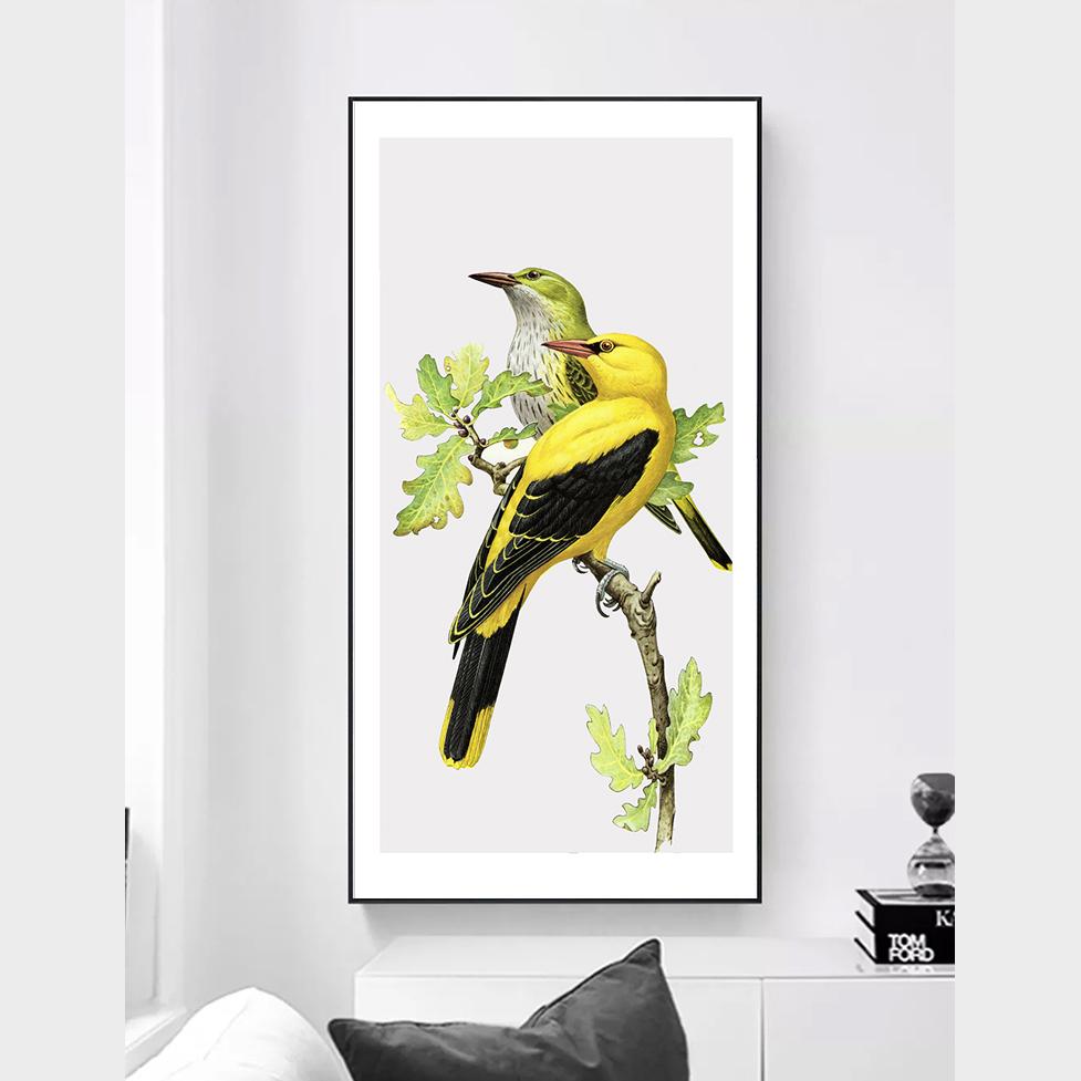 Tranh canvas tropical đôi chim CVTPC-01
